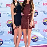 Kendall Jenner and Kylie Jenner at the Teen Choice Awards.