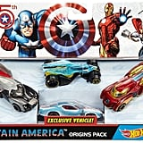 Hot Wheels Captain America 75th Anniversary 4-pk. Car Set