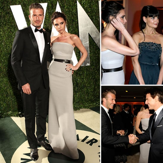 David and Victoria Beckham Vanity Fair Oscar Party Pictures