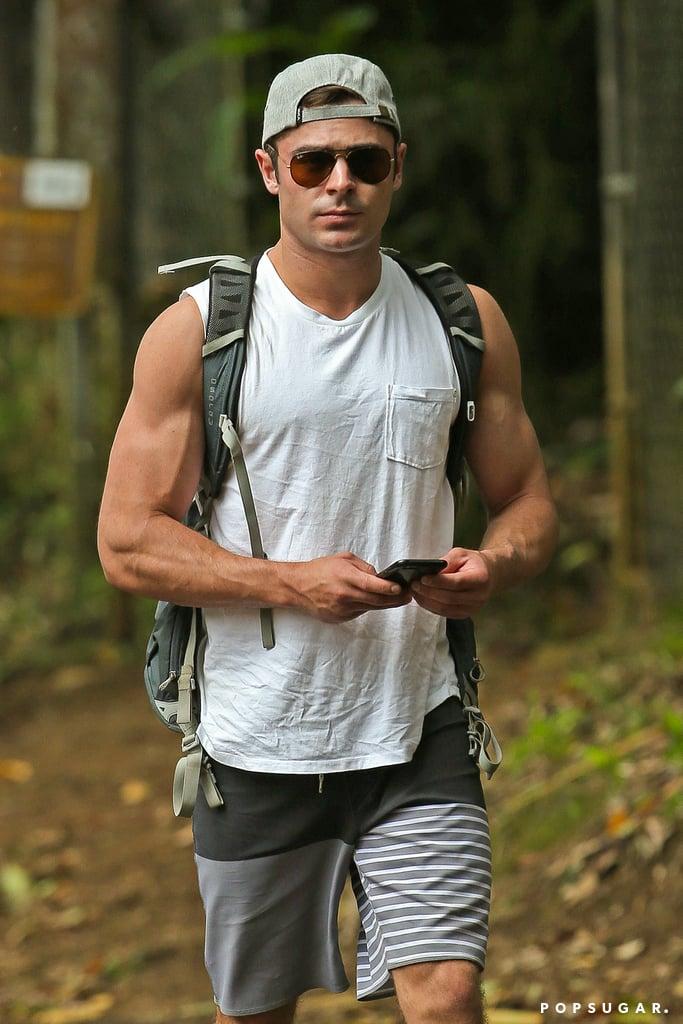 Zac Efron and Anna Kendrick Hiking in Hawaii May 2015