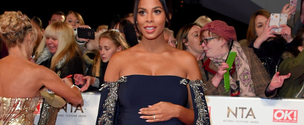 Rochelle Humes Baby Bump at the National TV Awards