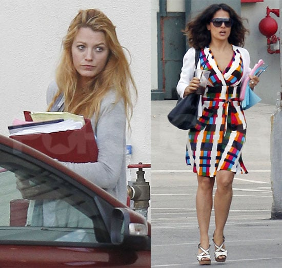 Blake Lively and Salma Hayek Meet With Oliver Stone Pictures