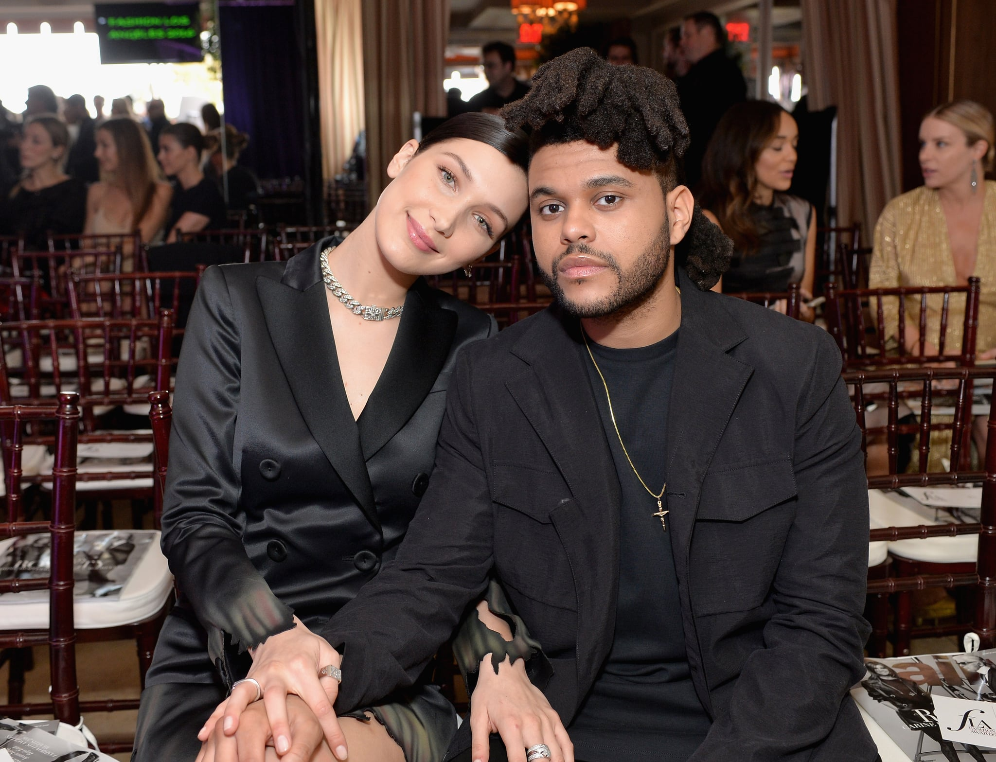 WEST HOLLYWOOD, CA - MARCH 20:  EXCLUSIVE COVERAGE Model of the Year Honoree Bella Hadid (L) and Abel