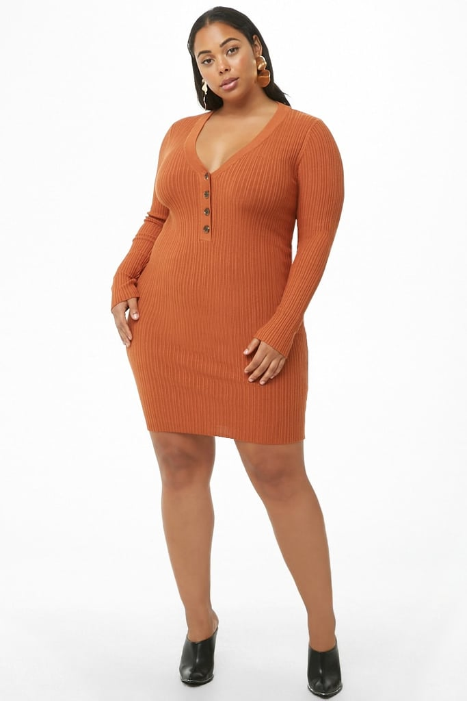 Forever 21 Plus-Size Ribbed Henley Dress