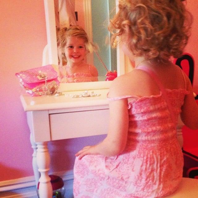 Harper Burtka-Harris was obsessed with her new vanity. Source: Instagram user instagranph