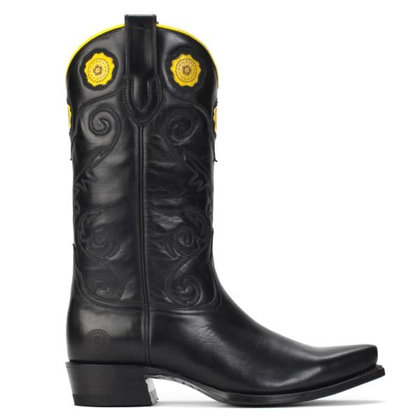 Ranch Road Boots Rosette Black