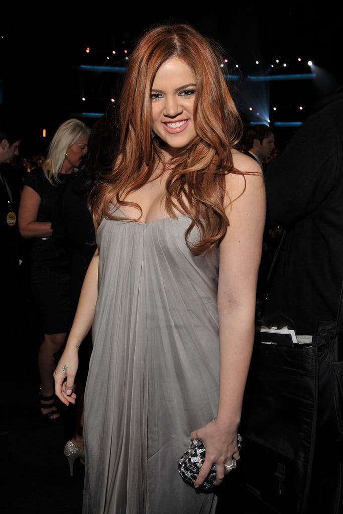 Khloe Kardashian With Copper Hair in 2011