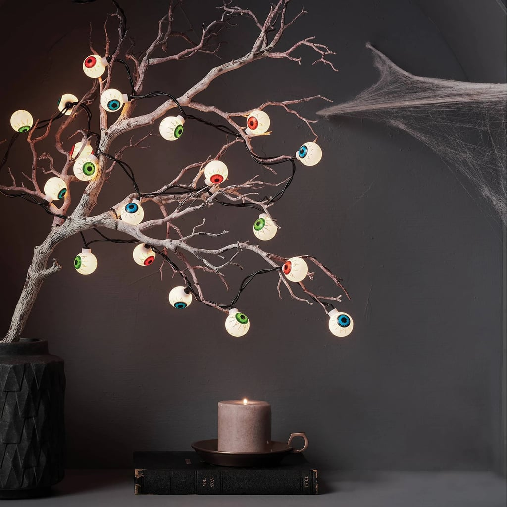 Clear Eyeballs With Black Wire Novelty String Lights