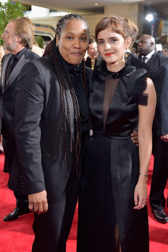 Emma Watson's Black Dress at the Golden Globes 2018