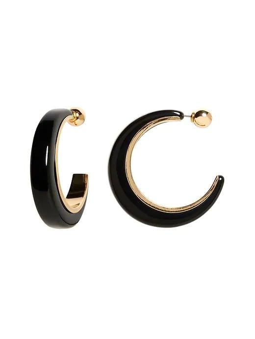 Resin & Metal Hoop Earrings