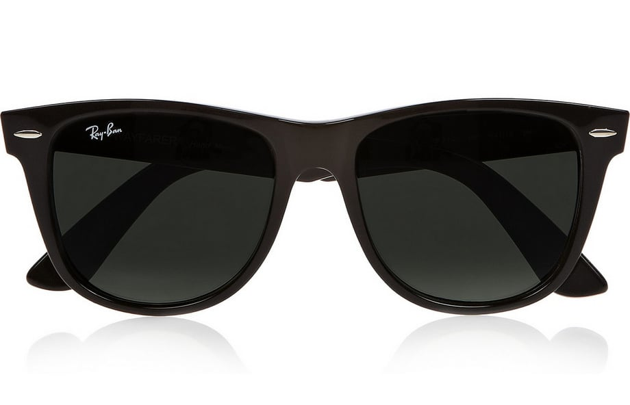 Ray-Ban black Wayfarer sunglasses ($150)