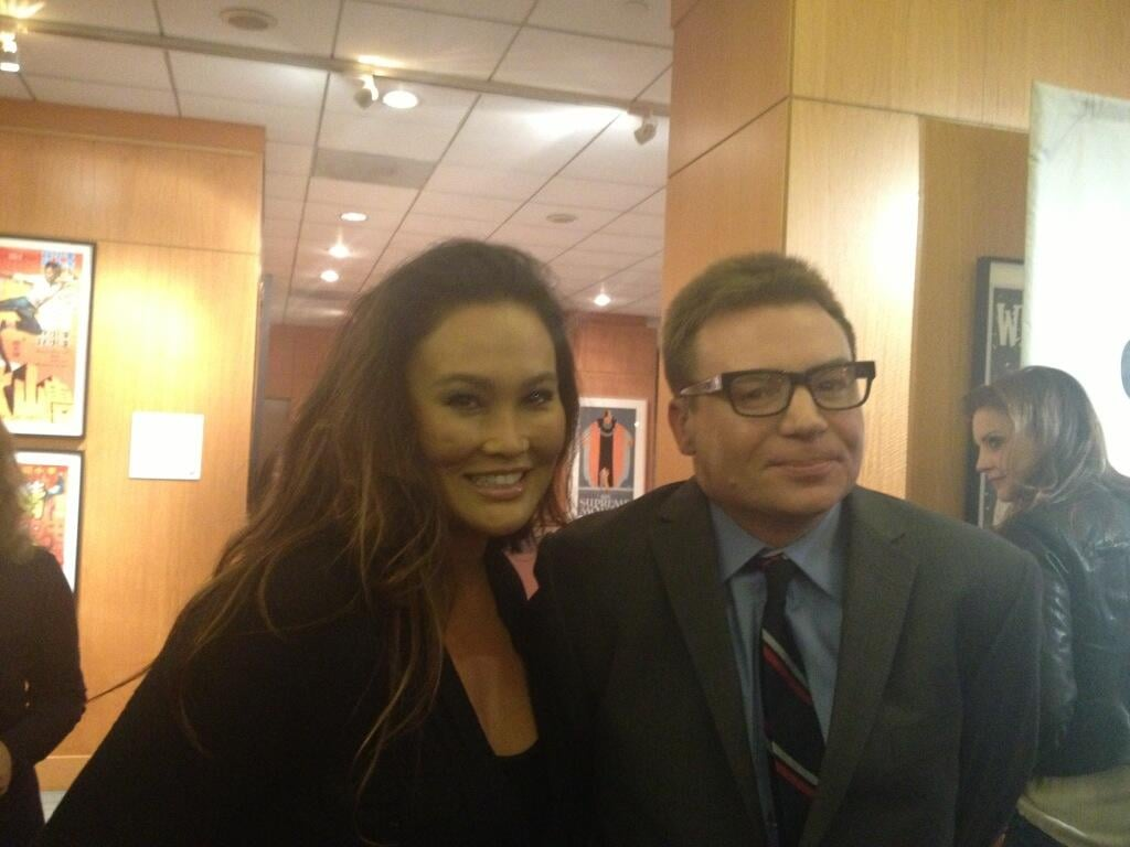 Tia Carrere reunited with her Wayne's World love interest, Mike Myers. Source: Twitter user TiaCarrere
