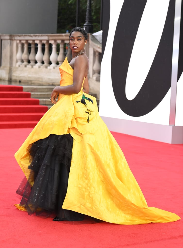 Lashana Lynch's Yellow Gown at the No Time to Die Premiere
