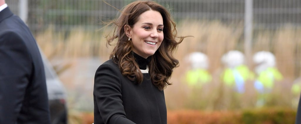 Kate Middleton Black Goat Coat