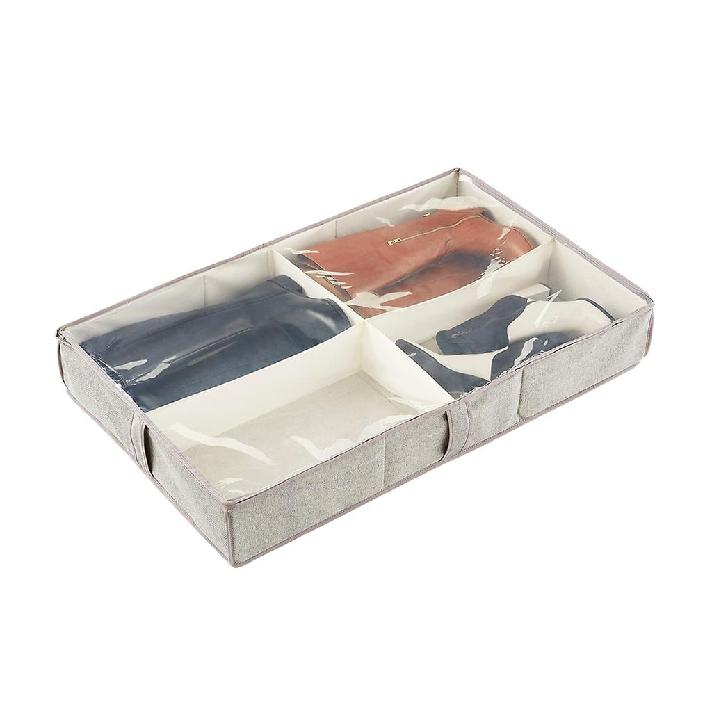 4-Compartment Under-Bed Boot Organiser