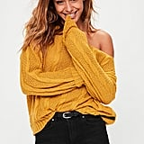 Missguided Yellow Slouchy Sweater