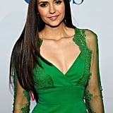 Nina Dobrev wore green to the People's Choice Awards.