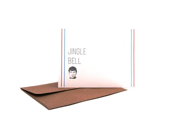 Jingle Bell Spock Christmas Holiday Cards
