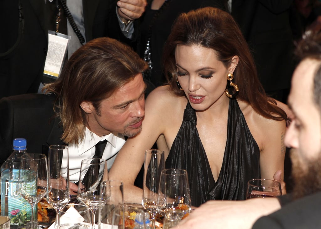 Brad and Angelina Cuddle and Laugh Through SAG Awards — See Their Cutest PDA Moments!