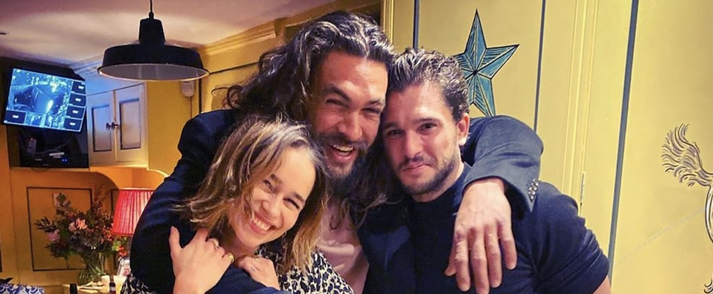 Emilia Clarke, Jason Momoa, and Kit Harington Reunion Photo