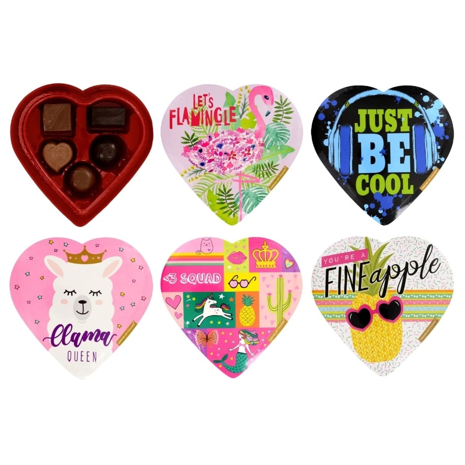 Elmer Chocolate Colorful Heart-Shaped Boxes of Assorted Chocolates