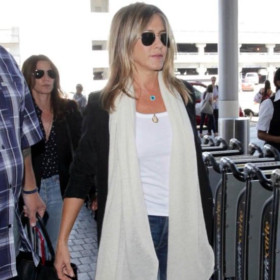 Jennifer Aniston Wearing a White Tank Top