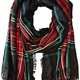 Betsey Johnson Plaid Blanket Wrap