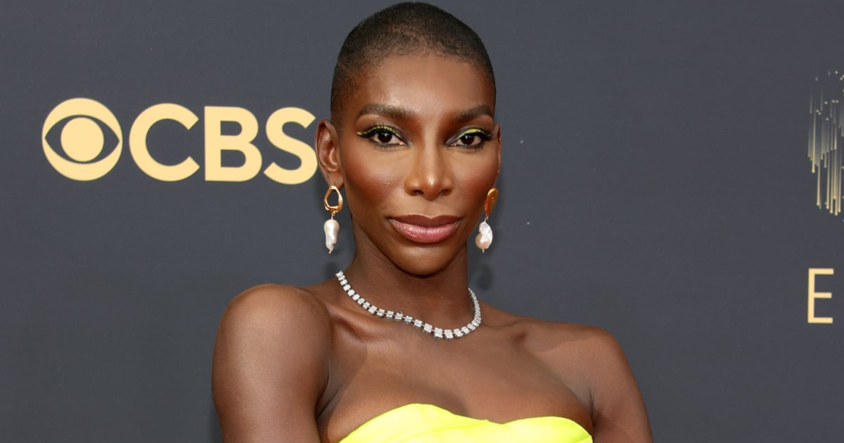 Please Yield For Michaela Coel's Neon Yellow Bralette and 6-Foot Bow at the 2021 Emmys.jpg
