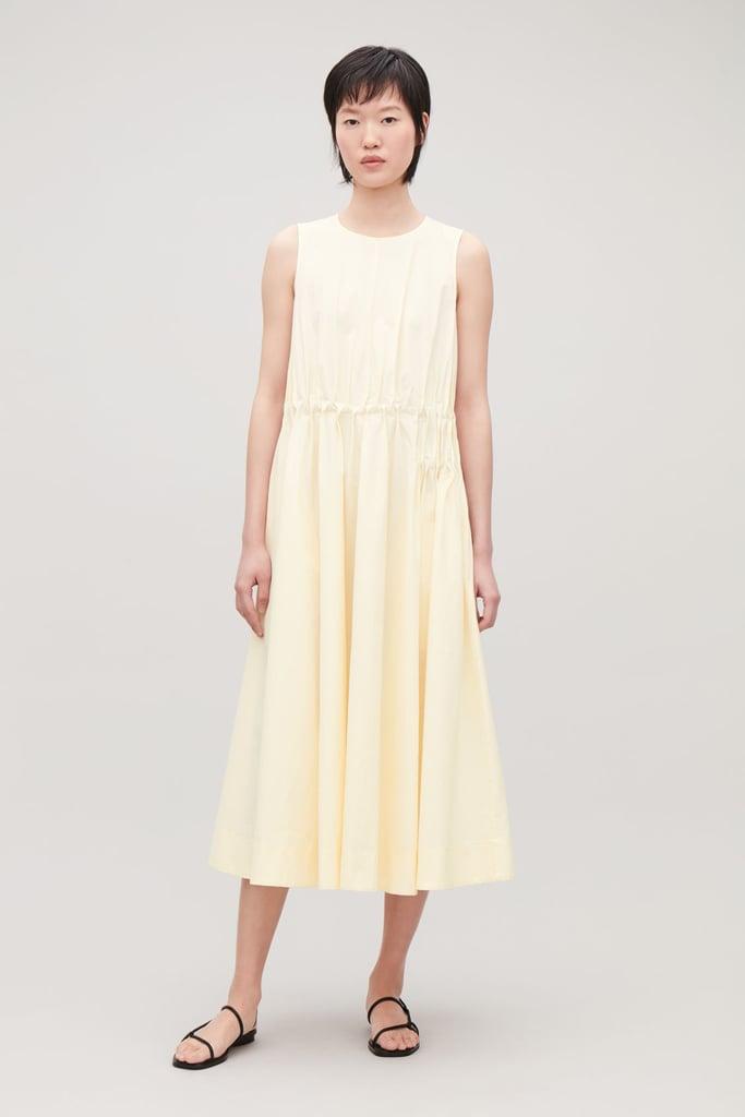 3cb9a165ff Cos Gathered Sleeveless Dress