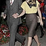 Julianne Hough and Ryan Seacrest dressed up as Bonnie and Clyde for Halloween 2012 in LA.