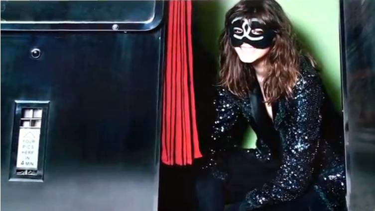 >> The Fall 2011 Chanel ad campaign has the same photographer as always — Karl Lagerfeld — and Freja Beha Erichsen back for her fifth consecutive campaign, but thanks to new campaign stylist Carine Roitfeld, the set of images — previewed at the Cannes Film Festival and shot at a photobooth in Paris — has a decidedly edgier feel than seasons past.