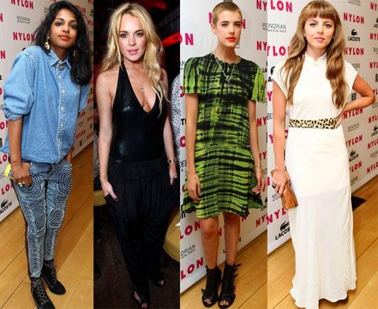 Pictures of Agyness Deyn, Lindsay Lohan, MIA, Ophelia Lovibond, Peaches Geldof at Nylon Magazine Music Issue Party in LA 2010-06-23 02:03:18