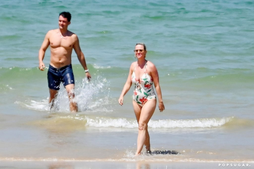 Katy Perry and Orlando Bloom Take a Break From Wedding Planning and Hit the Beach