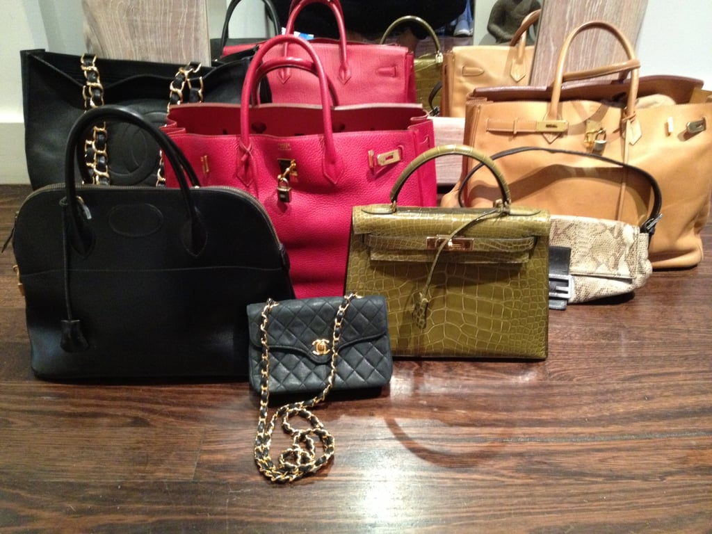 A selection of a few of my handbags.