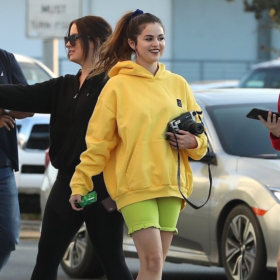 Selena Gomez's Lime Green Ruffled Biker Shorts Are Adorable