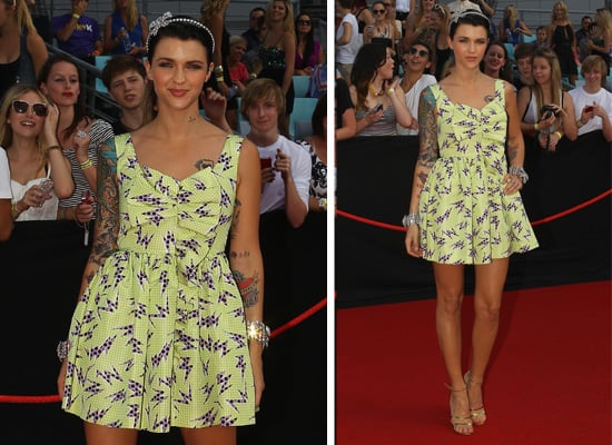 Pictures of Ruby Rose in Girly Frock on the Red Carpet for the 2011 ARIA Awards: Rate or Hate her Look?