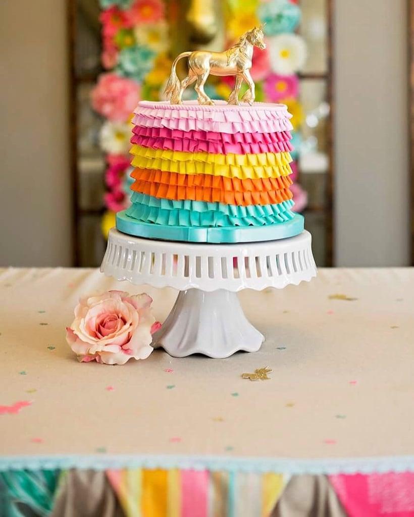 Gold Unicorn Cake Topper