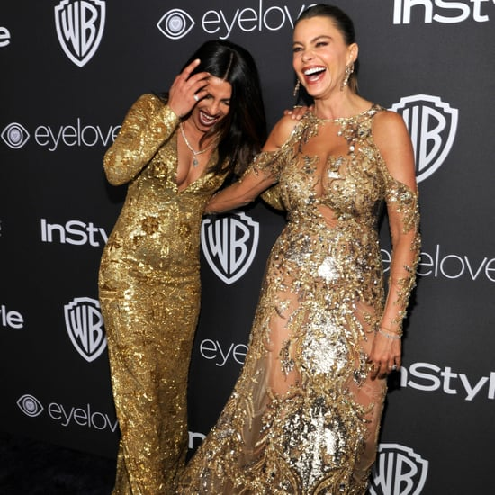 Sofia Vergara and Priyanka Chopra at the 2017 Golden Globes