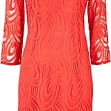Wallis coral scalloped lace shift dress (£45)