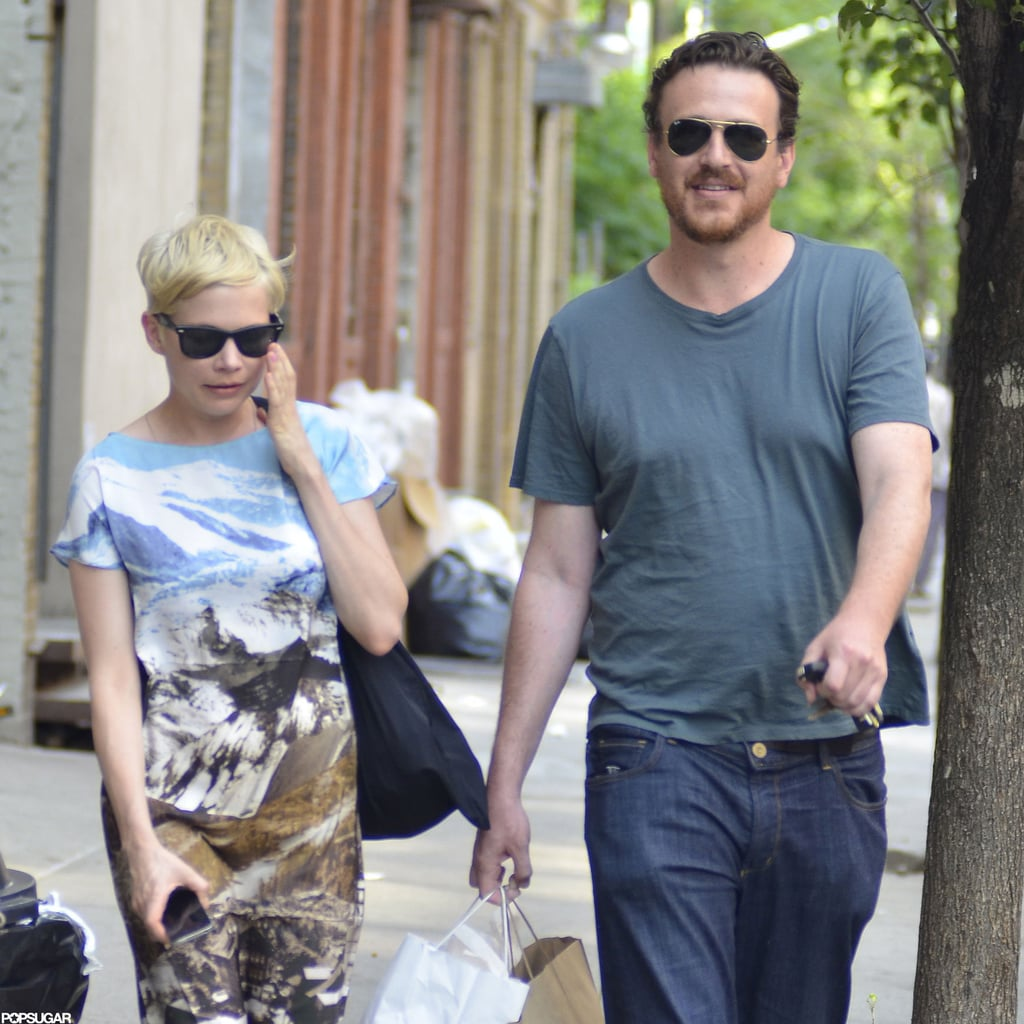Michelle Williams and Jason Segel went shopping in Brooklyn.