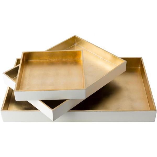Artistic Weavers Yradi Wheat 3-Piece Decorative Tray Set