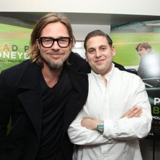 Brad Pitt Jonah Hill Moneyball Q+A Talk Pictures