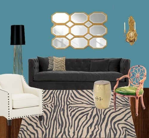 Zebra decor popsugar home for Zebra decorations for home