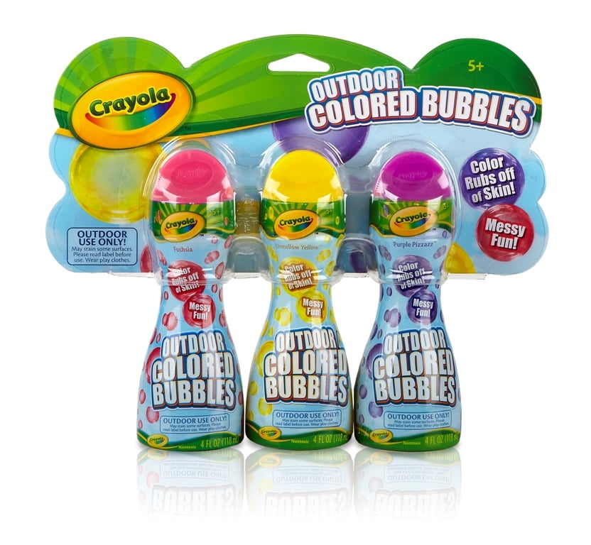 Crayola Outdoor Colored Bubbles ($10)