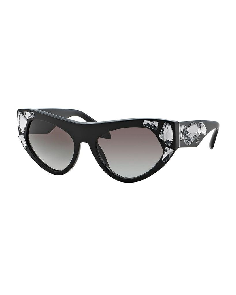ac61f5bd3548 ... cheapest prada jeweled cat eye sunglasses 450 780a1 adf90