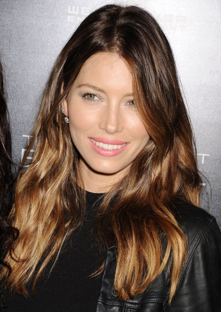 Jessica Biel Celebrities With Balayage Hair Colour Pictures