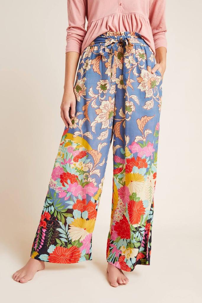 Leilani Paperbag Wide-Leg Pants