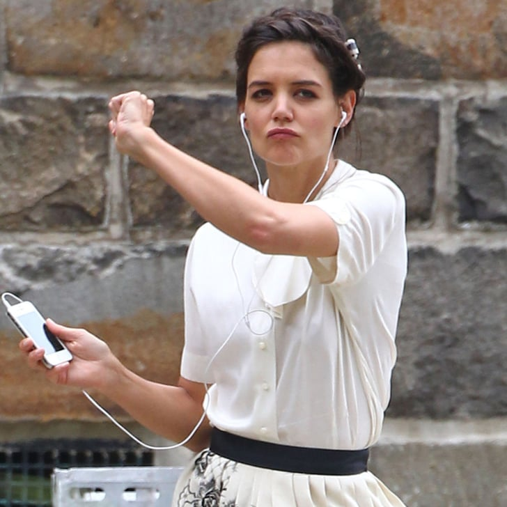 Katie Holmes And Suri Cruise On Set In Ohio Popsugar Celebrity