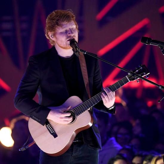 Ed Sheeran Performs at the 2017 iHeartRadio Music Awards