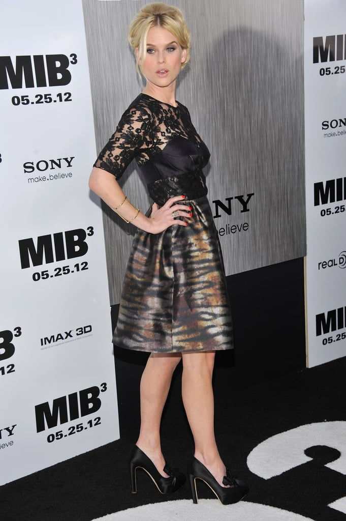 Alice Eve stepped onto the black carpet for the Men in Black III premiere in NYC.